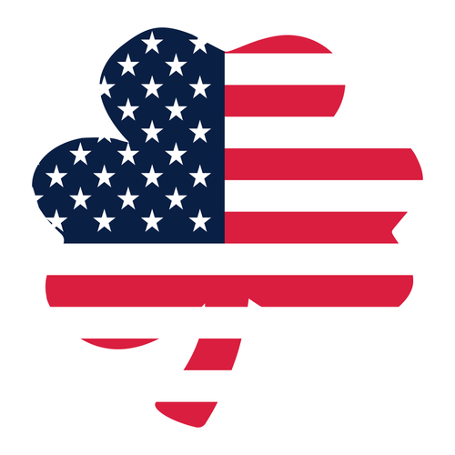 American Flag Shamrock Reflective Decal