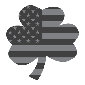 Subdued American Flag Shamrock Reflective Decal