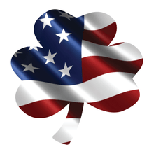 Load image into Gallery viewer, Wavy American Flag Shamrock Reflective Decal
