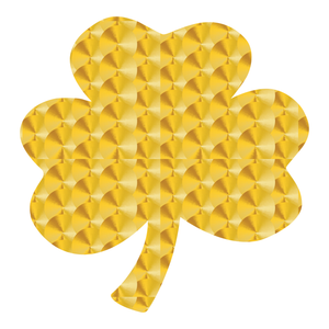 Gold Leaf Style Lucky Shamrock Reflective Decals