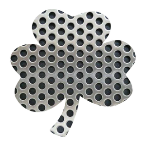 Metal Textures Lucky Shamrock Reflective Decals