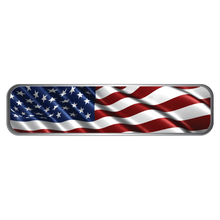 Load image into Gallery viewer, Reflective Vinyl Firefighter Helmet Trim Stripe Marker Decals, Wavy USA Flag Background