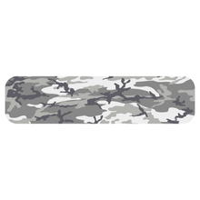 Load image into Gallery viewer, Grey Woodland Camouflage Helmet Stripe Marker Reflective Vinyl Decals