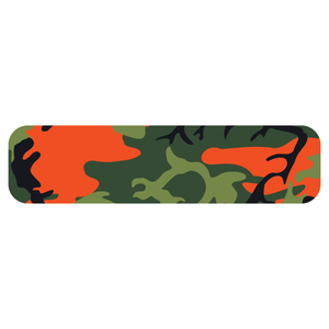Orange Woodland Camouflage Helmet Stripe Marker Reflective Vinyl Decals