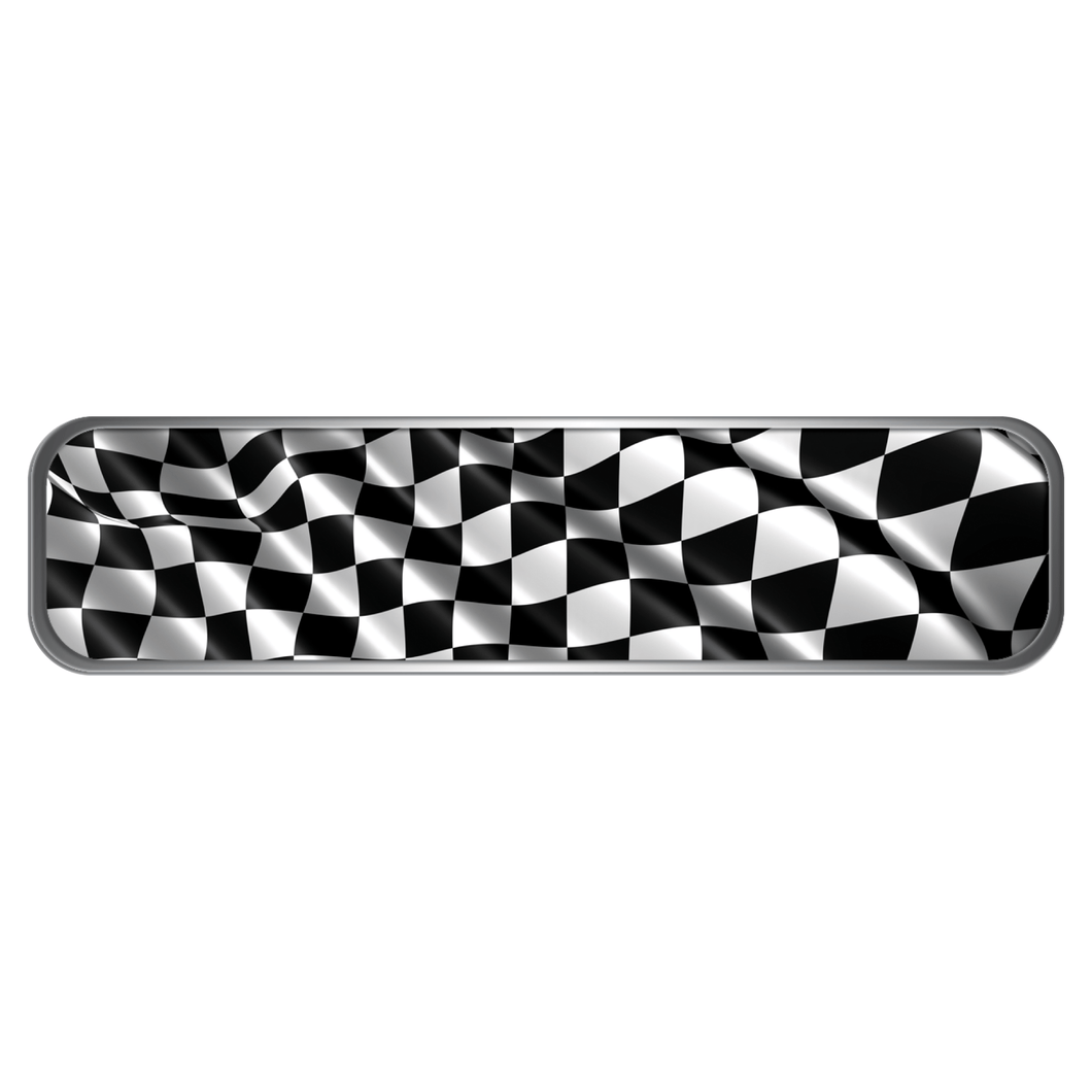 Checkered Flag Helmet Trim Stripe Marker Reflective Decals