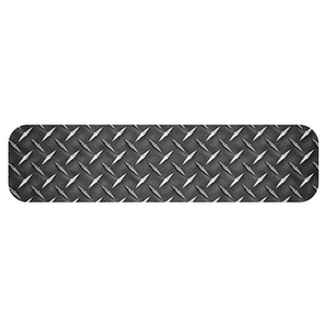 Diamond Plate Helmet Trim Stripe Markers - Fire Safety Decals