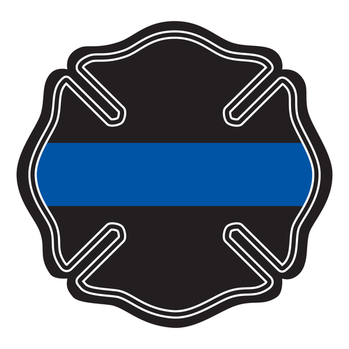 Thin Blue Line Maltese Cross Reflective Decals