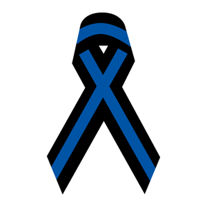 Thin Blue Line Ribbon Reflective Decals