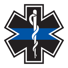 Load image into Gallery viewer, Thin Blue Line Star Of Life Reflective Decals