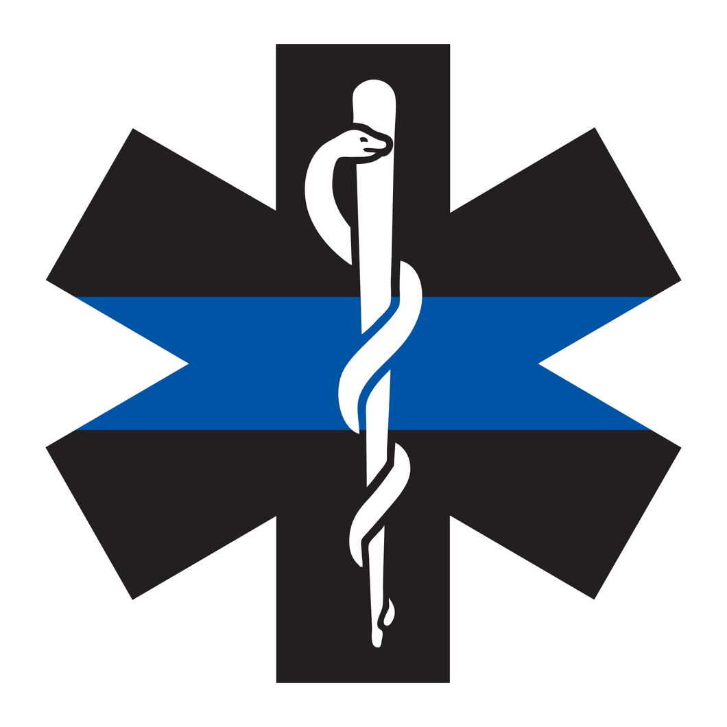 Thin Blue Line Star Of Life Reflective Decals