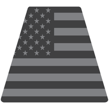 Load image into Gallery viewer, Reflective Vinyl Fire Helmet standard sized Tetrahedron Trapezoid with Subdued USA Flag Background