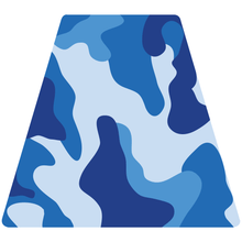 Load image into Gallery viewer, Blue Woodland Camouflage Helmet Tetrahedron Reflective Vinyl Decals