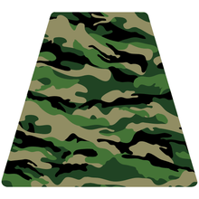 Load image into Gallery viewer, Green Woodland Camouflage Helmet Tetrahedron Reflective Vinyl Decals
