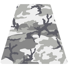 Load image into Gallery viewer, Grey Woodland Camouflage Helmet Tetrahedron Reflective Vinyl Decals
