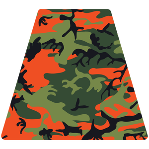 Orange Woodland Camouflage Helmet Tetrahedron Reflective Vinyl Decals
