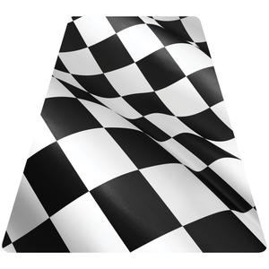 Checkered Flag Helmet Tetrahedron Reflective Decals