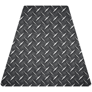 Diamond Plate Helmet Tetrahedron Reflective Decals - Fire Safety Decals