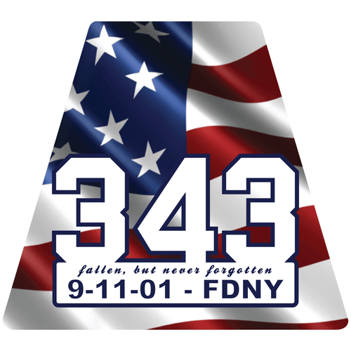 9-11 FDNY 343 Commemorative Tetrahedron Reflective Decals