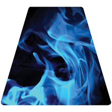 Load image into Gallery viewer, Blue Fire Helmet Tetrahedron Reflective Vinyl Decal