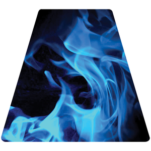 Blue Fire Helmet Tetrahedron Reflective Vinyl Decal