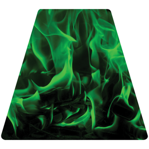 Green Fire Helmet Tetrahedron Reflective Vinyl Decal