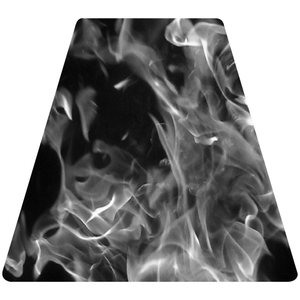 Grey Fire Helmet Tetrahedron Reflective Vinyl Decal
