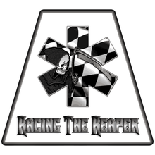 Load image into Gallery viewer, Racing The Reaper Helmet Tetrahedrons