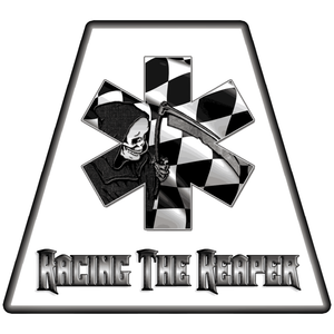 Racing The Reaper Helmet Tetrahedrons