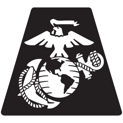 US Marine Corps Eagle Globe Anchor Helmet Tetrahedron Reflective Decals