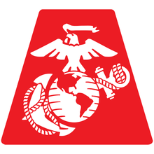 Load image into Gallery viewer, US Marine Corps Eagle Globe Anchor Helmet Tetrahedron Reflective Decals - Fire Safety Decals