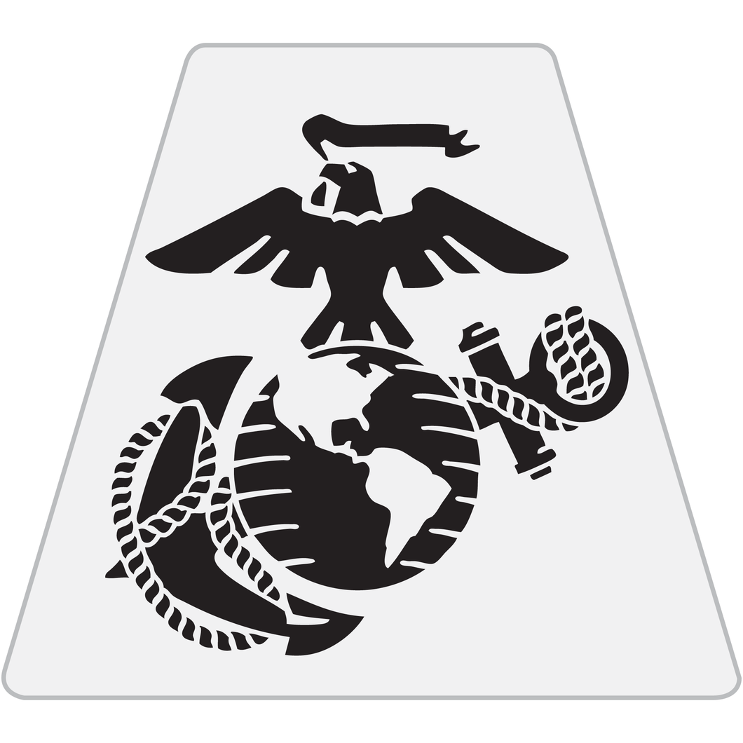 US Marine Corps Eagle Globe Anchor Helmet Tetrahedron Reflective Decals - Fire Safety Decals