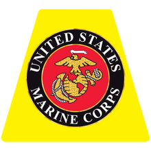 Load image into Gallery viewer, US Marine Corps Seal Helmet Tetrahedron Reflective Decals