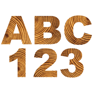 Tree Rings Reflective Letter and Number Decals