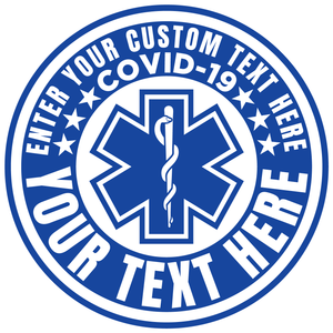 Personalized Custom COVID-19 Reflective Vinyl Decal