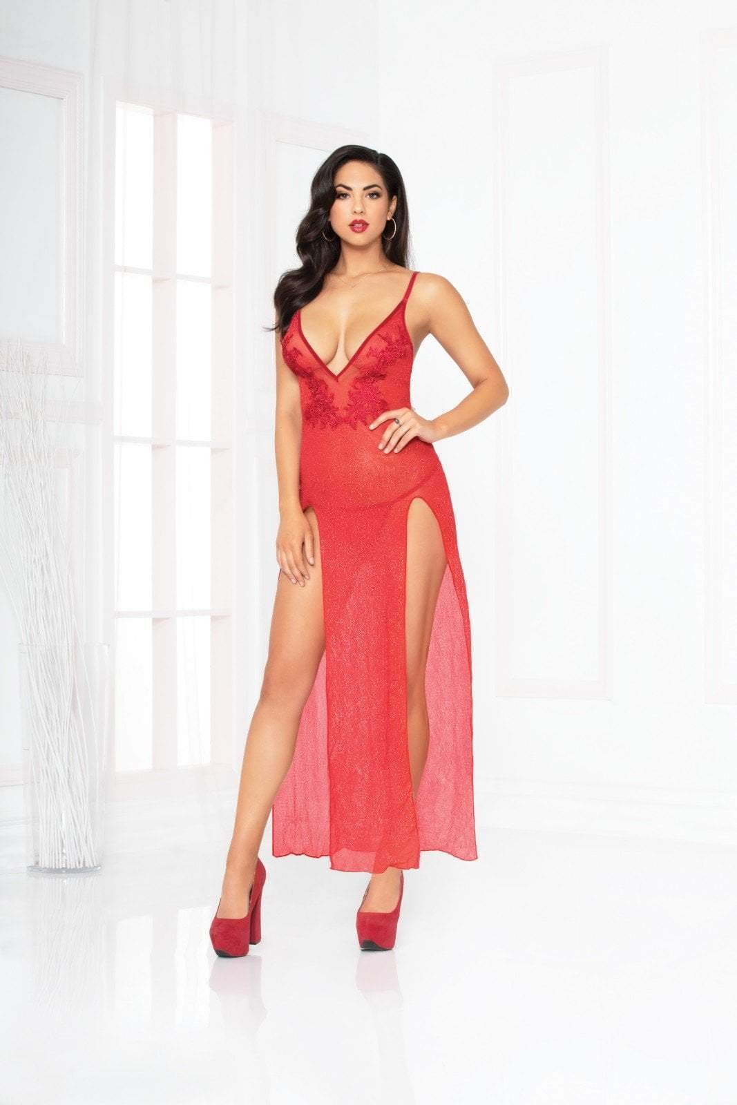 seven til midnight Seven til Midnight Chemise All That Glitters Gown Set Red