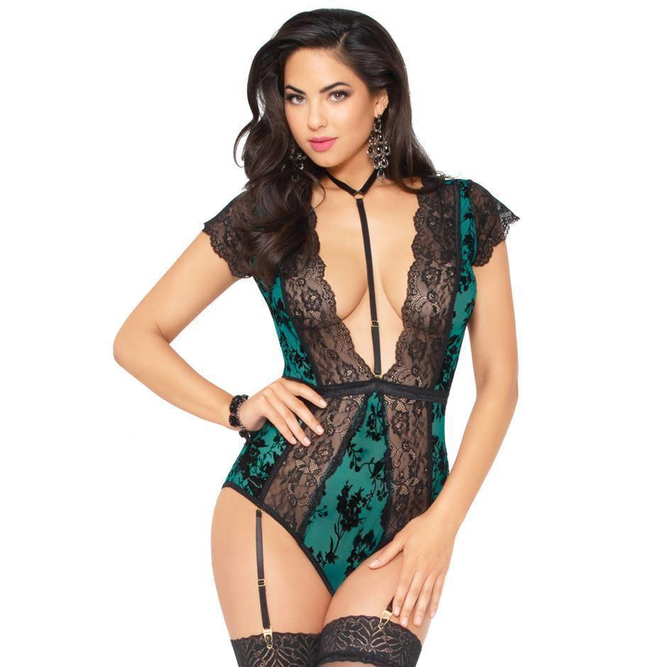 seven til midnight Seven til Midnight Teddy UK 6-8 / Green Simply Gorgeous Emerald Teddy