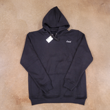 Laced Small Script Embroidered Logo Hoodie