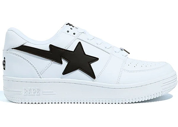 A Bathing Ape Bapesta Low M1 White Black