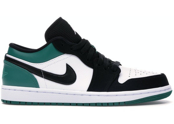 Jordan 1 Low White Black Mystic Green