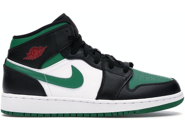 Jordan 1 Mid Green Toe (GS)