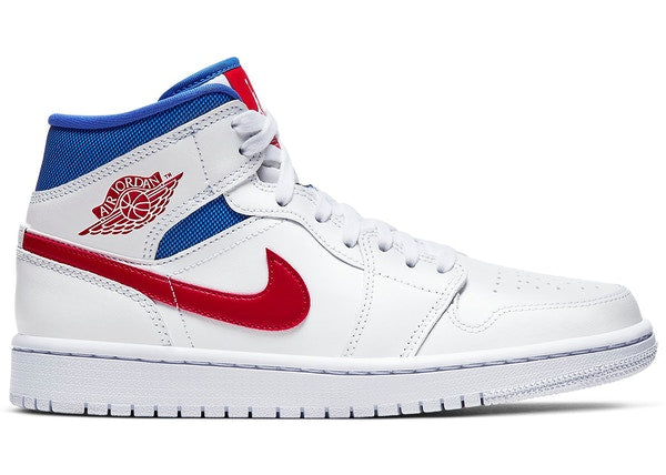 Jordan 1 Mid White Red Royal (W)