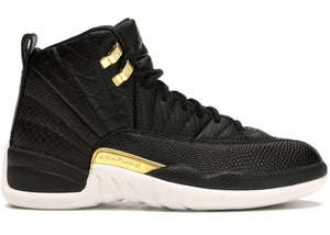 Jordan 12 Retro Black Metallic Gold White (W)