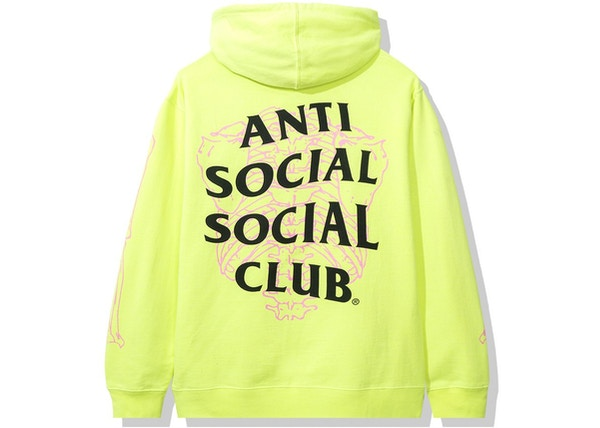 Anti Social Social Club Car Underwater Hoodie Neon Yellow