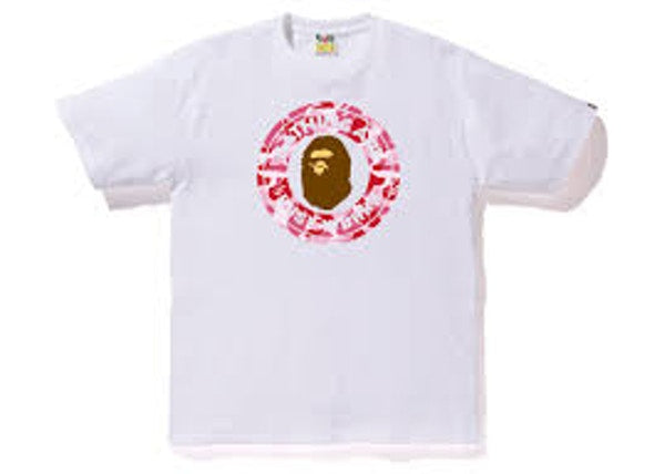 BAPE ABC Busy Works Tee White/Pink