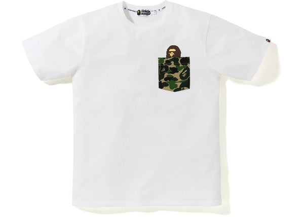 BAPE ABC Pocket Tee White/Green
