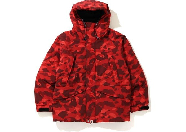 BAPE Color Camo Snowboard Down Jacket Red