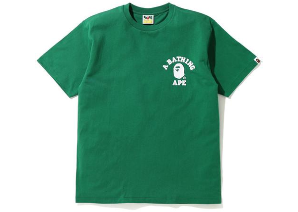 BAPE Silicon College One Point T-Shirt Green