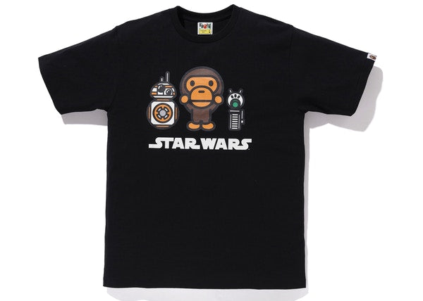 BAPE x Star Wars BB-8 & D-O Tee Black