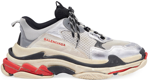Balenciaga Triple S Silver Red (2018)