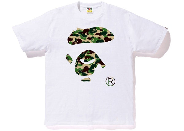BAPE ABC Ape Face Tee White/Green